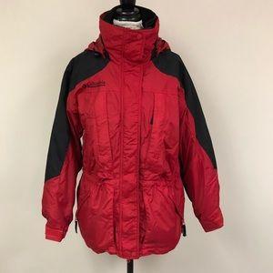 Columbia Double Whammy Red/Black 3 in 1 Ski Coat